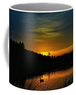 Bass Lake Sunrise Duck Coffee Mug