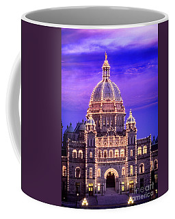 Coffee Mug featuring the photograph Bc Parliament by Scott Kemper