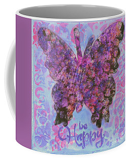 Be Happy 2 Butterfly Coffee Mug