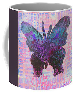 Be Happy Butterfly Coffee Mug