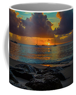 Coffee Mug featuring the photograph Beach At Sunset by Stuart Manning