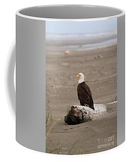 Beach Bald Eagle Coffee Mug