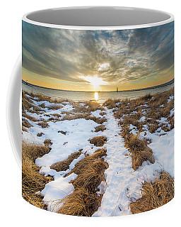 Beach In Frankfort In January Coffee Mug