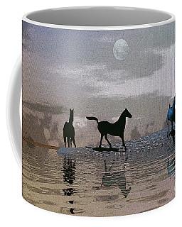 Beach Of Wild Horses Coffee Mug