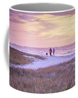 Sunrise Stroll On The Beach Coffee Mug