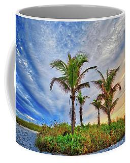 Coffee Mug featuring the photograph Beach Sunrise Over The Palms by Lynn Bauer