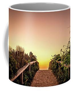 Path Over The Dunes At Sunrise. Coffee Mug