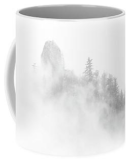 Beacon Rock In The Morning Fog Coffee Mug