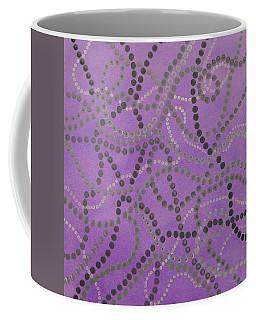 Beads And Pearls - Gray Coffee Mug