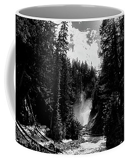 Bear Creek Pathway In Black And White Coffee Mug