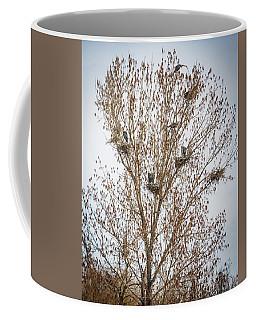 Beautiful Great Blue Heron Tree Houses Coffee Mug