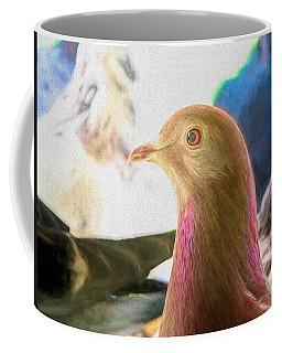 Beautiful Homing Pigeon Painted Coffee Mug