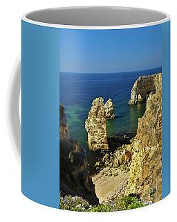 Beautiful Marinha Beach From The Cliffs Coffee Mug