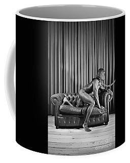 Beautiful Naked Man With Mask Posing On A Sofa Coffee Mug
