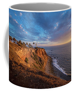 Beautiful Point Vicente Lighthouse At Sunset Coffee Mug