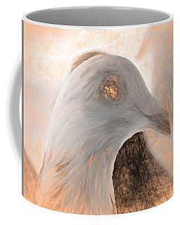 Beautiful Racing Pigeon Da Vinci Coffee Mug