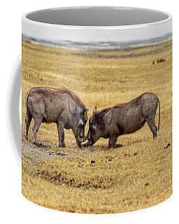 Coffee Mug featuring the photograph Beauty On The Hoof, The Warthog by Kay Brewer