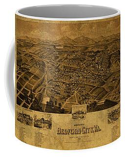 Bedford Virginia Vintage City Street Map 1891 Coffee Mug