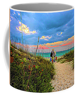 Beginning Of A Fishing Story Coffee Mug