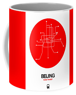 Beijing Red Subway Map Coffee Mug