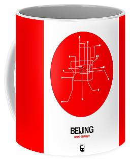 Beijing Red Subway Map Coffee Mug