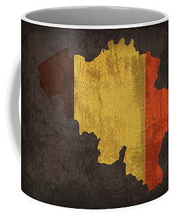 Belgium Country Flag Map Coffee Mug