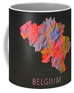 Belgium Tie Dye Country Map Coffee Mug
