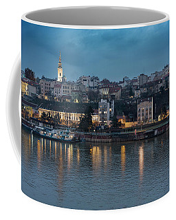 Belgrade Skyline And Sava River Coffee Mug