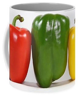 Coffee Mug featuring the photograph Bell Pepper Support Group by Debi Dalio