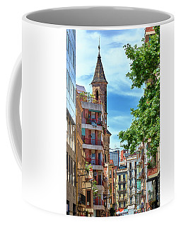 Coffee Mug featuring the photograph Bell Tower And Apartments In Barcelona by Eduardo Jose Accorinti