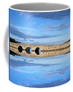 Coffee Mug featuring the photograph Belvelly Castle Reflection by Joan Stratton