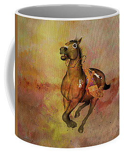 Coffee Mug featuring the painting Bid For Freedom by Valerie Anne Kelly