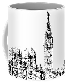 Coffee Mug featuring the digital art Big Ben by ISAW Company