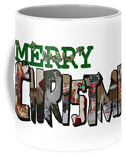 Big Letter Merry Christmas Coffee Mug
