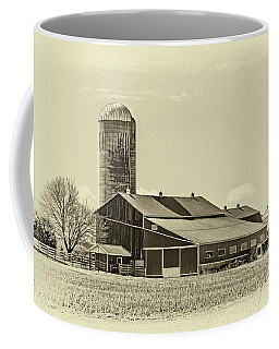 Big Red Barn 3 Sepia Coffee Mug