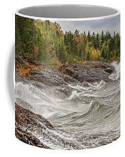 Big Waves In Autumn Coffee Mug