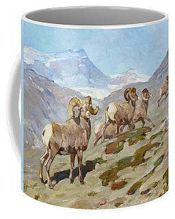 Bighorn Sheep, Nigel Pass, Alberta, 1919 Coffee Mug