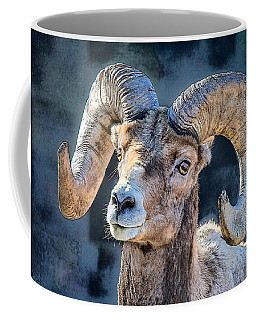 Coffee Mug featuring the digital art Bighorn Sheep by Pennie McCracken
