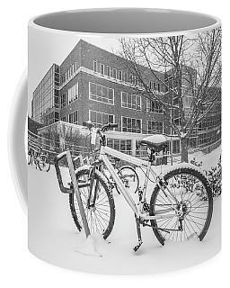 Bike And Msu Library  Coffee Mug