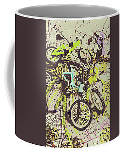 Bikes And City Routes Coffee Mug