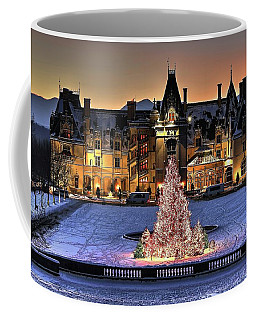 Biltmore Christmas Night All Covered In Snow Coffee Mug