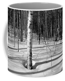 Birch Shadow. Coffee Mug