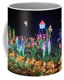 Birdhouse Garden Christmas Lights At Night Coffee Mug