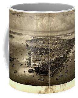 Bird's-eye View Of New York City 1851  Coffee Mug
