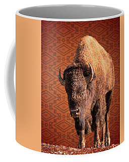 Coffee Mug featuring the photograph Bison Blanket by Mary Hone