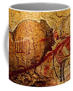 Bison Horse And Other Animals Closer - Narrow Version Coffee Mug