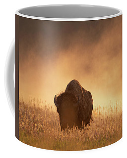 Bison In The Dust 2 Coffee Mug