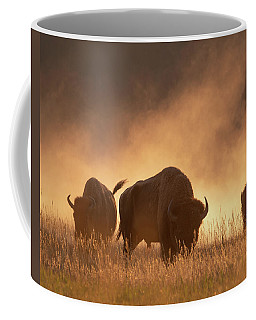 Bison In The Dust Coffee Mug