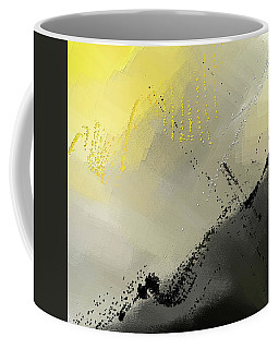 Bit Of Sun - Yellow And Gray Modern Art Coffee Mug