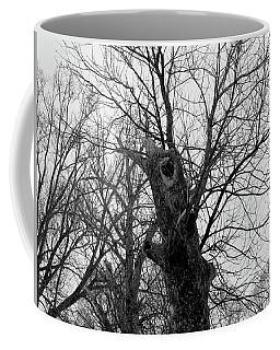Black Against Gray Coffee Mug
